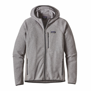 Patagonia Mens Performance Better Sweater Fleece Hoody Feather Grey
