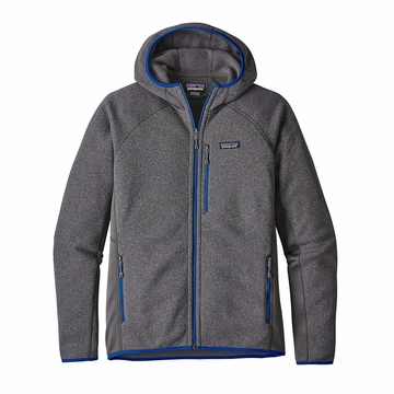 Patagonia Mens Performance Better Sweater Fleece Hoody Forge Grey
