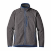 Patagonia Mens Performance Better Sweater Fleece Jacket Forge Grey w/ Viking Blue