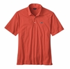 Patagonia Mens Polo Trout Fitz Roy Carve Coral