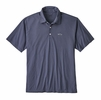 Patagonia Mens Polo Trout Fitz Roy Dolomite Blue
