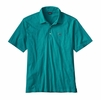 Patagonia Mens Polo Trout Fitz Roy Elwha Blue
