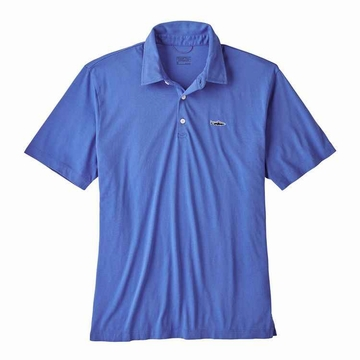 Patagonia Mens Polo Trout Fitz Roy Imperial Blue (close out)
