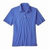 Patagonia Mens Polo Trout Fitz Roy Imperial Blue