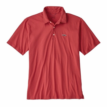 Patagonia Mens Polo Trout Fitz Roy Static Red