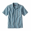 Patagonia Mens Puckerware Shirt Whitewater Small: Cuban Blue
