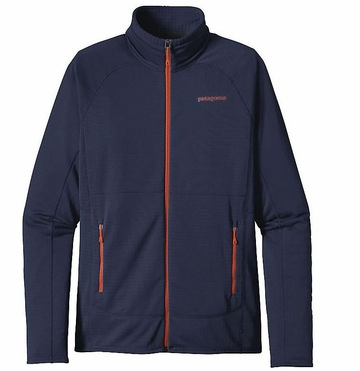 Patagonia Mens R1 Full-Zip Fleece Jacket Navy Blue