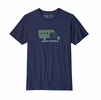 Patagonia Mens Repair Is Radical Organic Cotton T-Shirt Classic Navy (close out)
