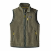 Patagonia Mens Retro Pile Fleece Vest Industrial Green