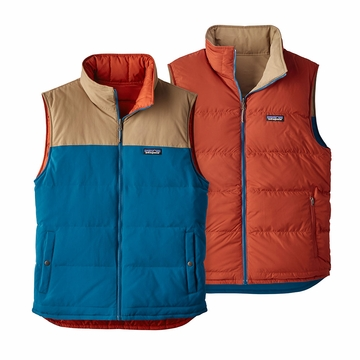 Patagonia Mens Reversible Bivy Vest Big Sur Blue