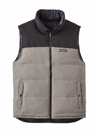 Patagonia Mens Reversible Bivy Vest Feather Grey