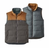Patagonia Mens Reversible Bivy Vest Forge Grey/ Bear Brown