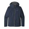 Patagonia Mens Stretch Rainshadow Jacket Navy Blue w/ Forge Grey