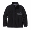 Patagonia Mens Synchilla Snap-T Fleece Pullover Black w/ Forge Grey