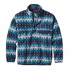 Patagonia Mens Synchilla Snap-T Fleece Pullover Forest Carpet: Deep Sea Blue