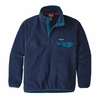Patagonia Mens Synchilla Snap-T Fleece Pullover Navy Blue