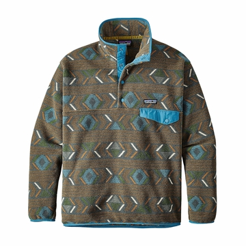 Patagonia Mens Synchilla Snap-T Fleece Pullover Lifecycle: Bear Brown