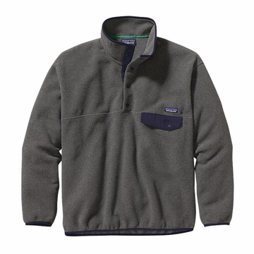 Patagonia Mens Synchilla Snap-T Fleece Pullover Nickel w/ Navy Blue (Close Out)