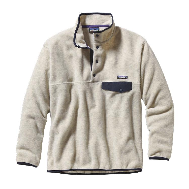 Patagonia Mens Synchilla Snap T Fleece Pullover Oatmeal