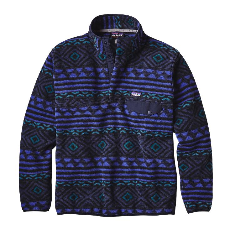 patagonia mens synchilla snapt fleece pullover saltillo
