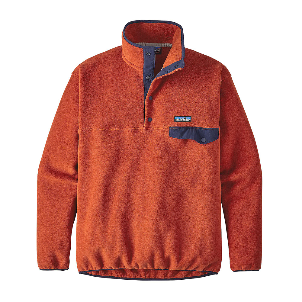 Patagonia Mens Synchilla Snap T Fleece Pullover Roots Red