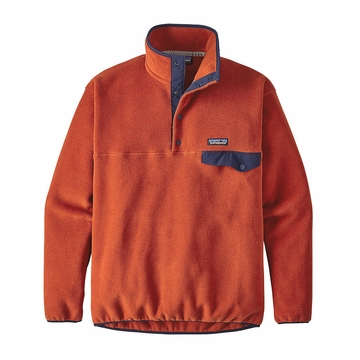 Patagonia Mens Synchilla Snap-T Fleece Pullover Roots Red
