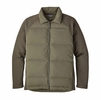 Patagonia Mens Ukiah Down Hybrid Jacket Industrial Green