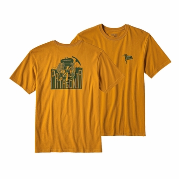 Patagonia Mens Useless Conquest Cotton T-Shirt Ysidro Yellow