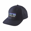 Patagonia P-6 Logo Roger That Hat Navy Blue