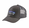 Patagonia P-6 LoPro Trucker Hat Forge Grey w/ Forge Grey