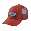 Patagonia P-6 LoPro Trucker Hat Roots Red