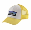 Patagonia P-6 LoPro Trucker Hat White w/ Yoke Yellow