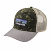 Patagonia P-6 Trucker Hat Big Camo: Fatigue Green/ Drifter Grey