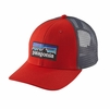 Patagonia P-6 Trucker Hat French Red