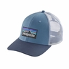 Patagonia P-6 Trucker Hat Railroad Blue