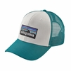 Patagonia P-6 Trucker Hat White/ Elwha Blue