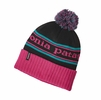 Patagonia Powder Town Beanie Park Stripe: Craft Pink