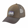 Patagonia Shop Sticker Patch LoPro Trucker Hat Dark Ash