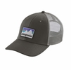 Patagonia Shop Sticker Patch LoPro Trucker Hat Forge Grey