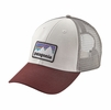 Patagonia Shop Sticker Patch LoPro Trucker Hat White
