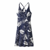 Patagonia Womens Amber Dawn Dress Valley Flora: Classic Navy/ Birch White
