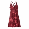 Patagonia Womens Amber Dawn Dress Valley Flora: Static Red