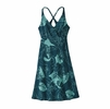 Patagonia Womens Amber Dawn Dress Valley Flora: Tidal Teal