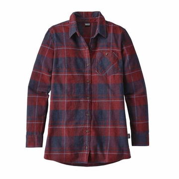 Patagonia Womens Aspen Forest Tunic Wind Weaver Plaid/ Drumfire Red