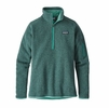 Patagonia Womens Better Sweater 1/4 Zip Fleece Beryl Green w/ Beryl Green