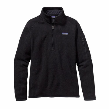 Patagonia Womens Better Sweater 1/4 Zip Fleece Black