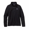 Patagonia Womens Better Sweater 1/4 Zip Fleece Black (Close Out)