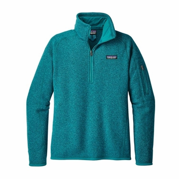 Patagonia Womens Better Sweater 1/4 Zip Fleece Elwha Blue