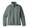 Patagonia Womens Better Sweater 1/4 Zip Fleece Hemlock Green