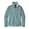Patagonia Womens Better Sweater 1/4 Zip Fleece Tubular Blue/ Crevasse Blue
